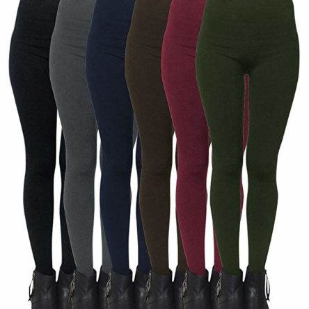 6-Pack Perfect Fleece Lined Leggings For Women